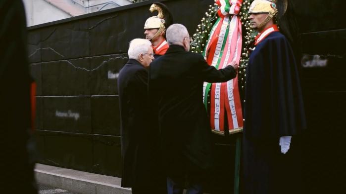 Verso il nuovo Memoriale - Visita al Memoriale dei Presidenti Mattarella e Van der Bellen